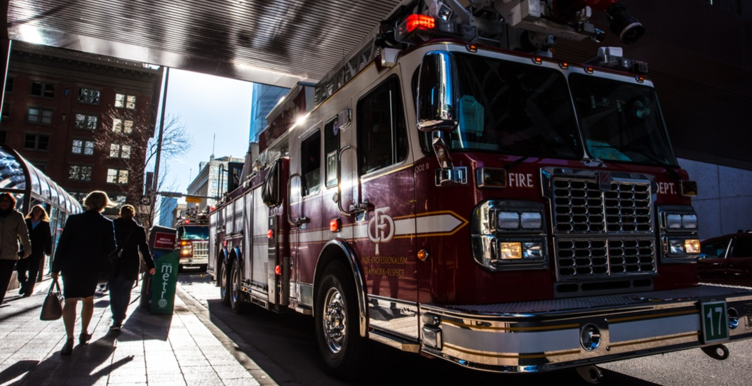 Unconscious man dragged from burning Calgary building