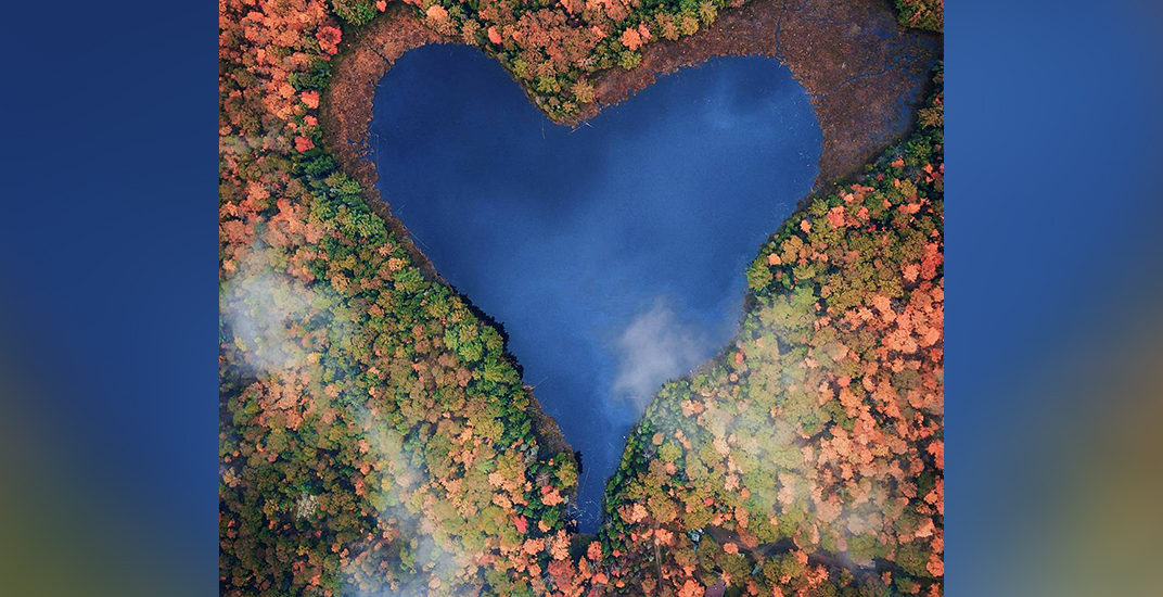 You need to visit this incredible heart-shaped lake in Ontario this fall