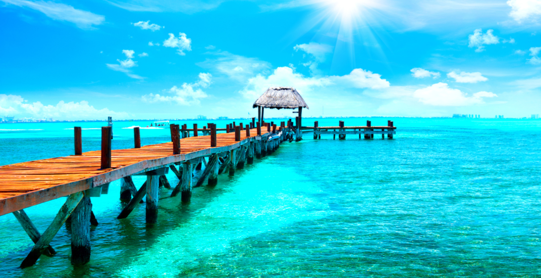 A jetty in cancun mexico shutterstock