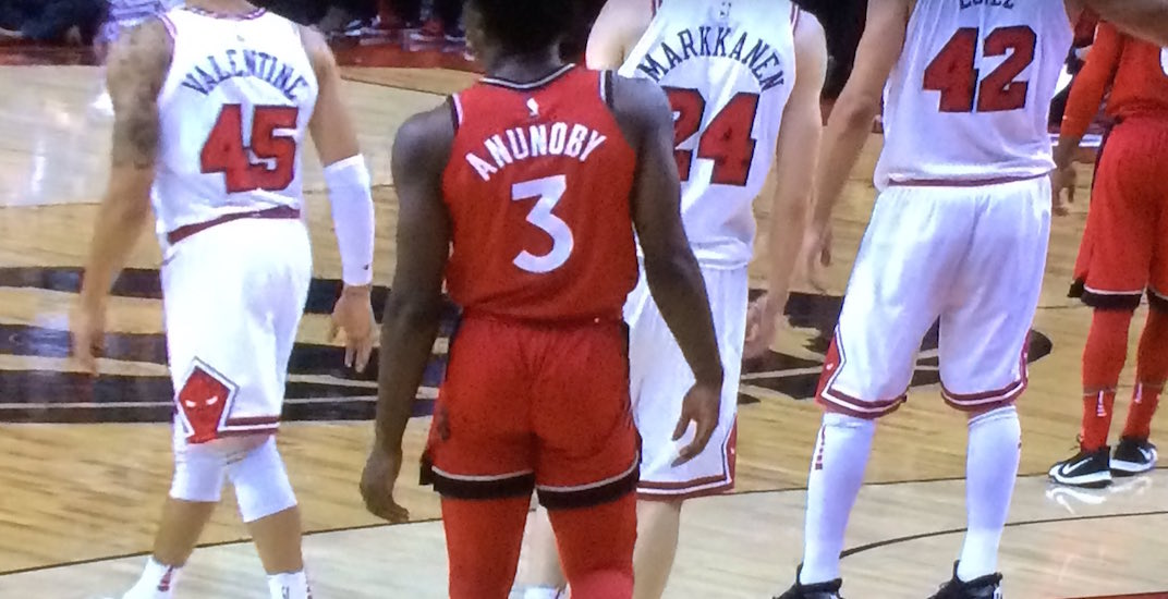 new style c58c8 0d3f4 Raptors fans react to OG Anunoby's tight short shorts | Offside