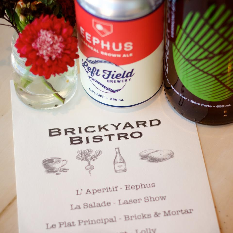 Left Field Brewery beer dinner