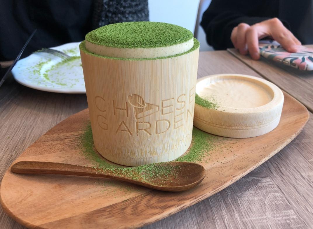 cheese garden uji matcha tiramisu
