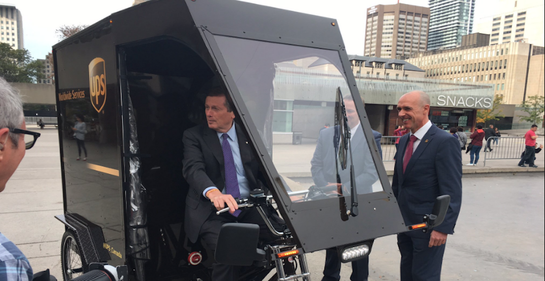UPS Canada to launch cargo bikes in Toronto