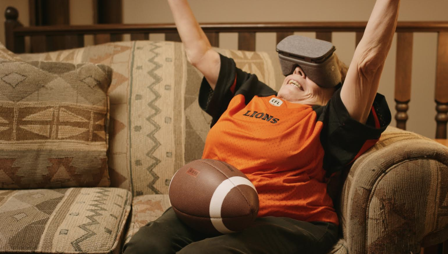 TELUS brings superfan to BC Lions game using the power of virtual reality
