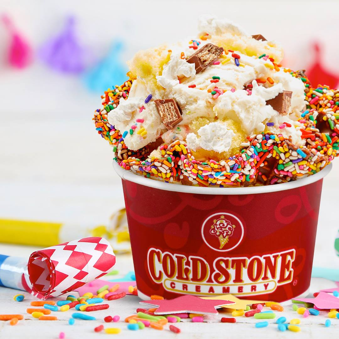 Cold Stone Creamery ice cream birthday