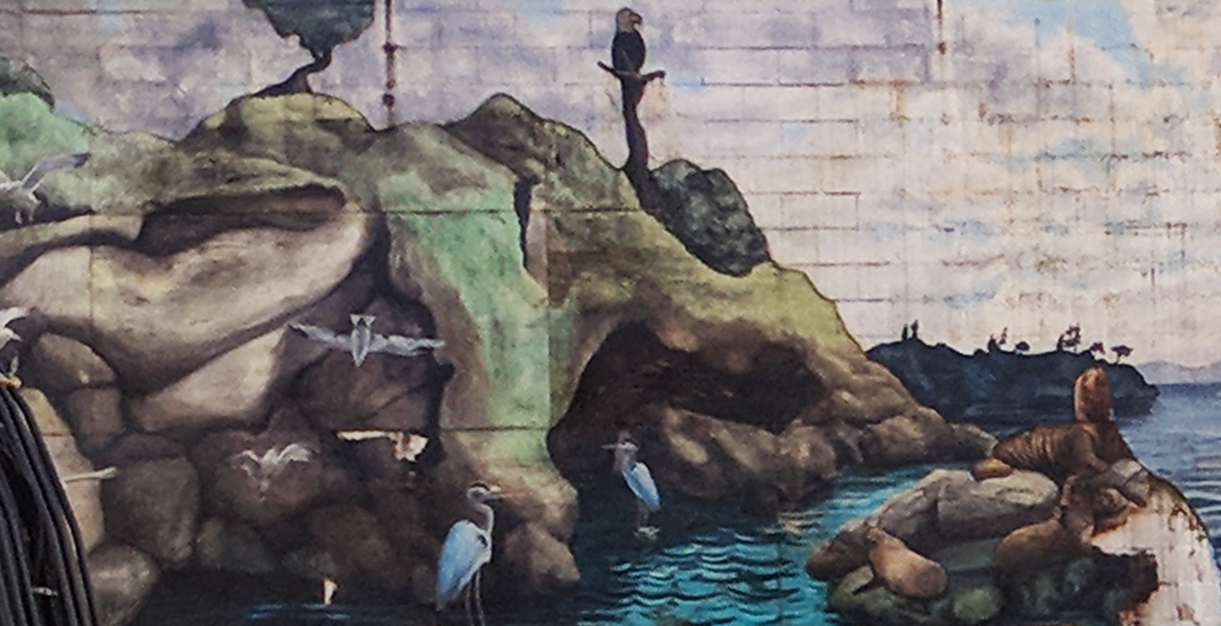 Mysterious mural uncovered on Drake Street at Seymour in downtown