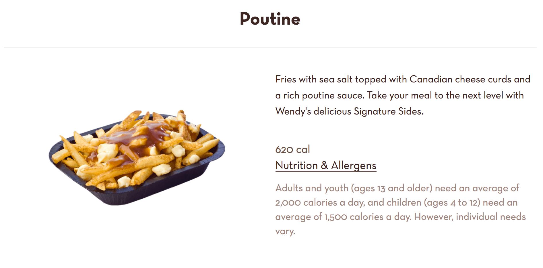 Wendy's poutine sauce