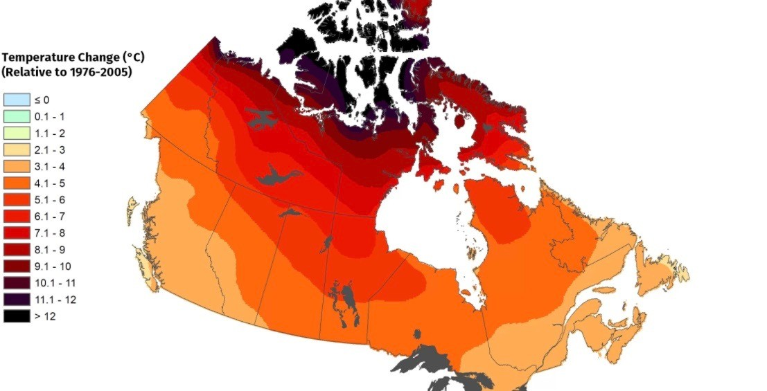 Canada's weather patterns are set to change drastically in the future (MAPS)