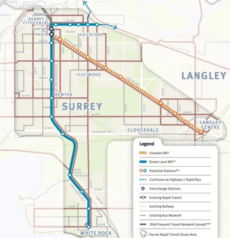 Trans Link light rail commuter train in Burnaby, suburb of ...   Vancouver Light Rail