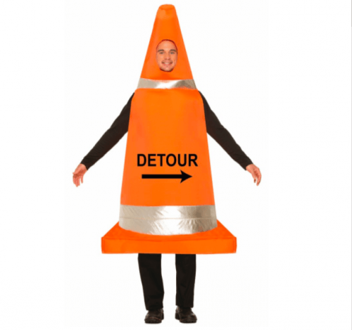 Construction cone costume