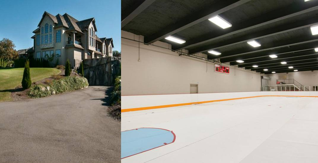 Nickelback frontman's former Abbotsford mansion with ice rink for sale (PHOTOS, VIDEO)