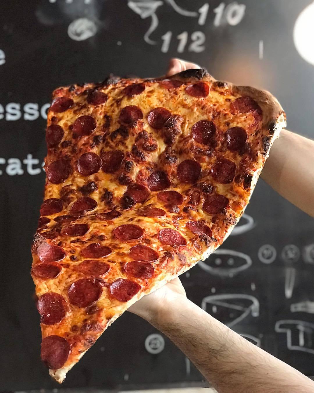 Lamanna's Bakery giant pizza slices