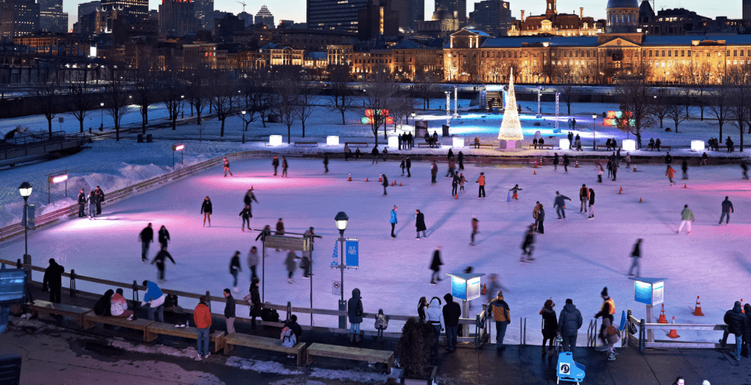 Montreal's Old Port skating rink will soon be open for the holiday season