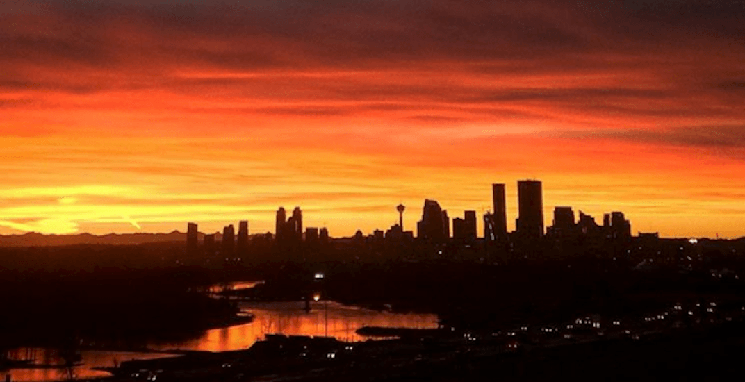 The sunset in Calgary will start happening after 9pm as of today