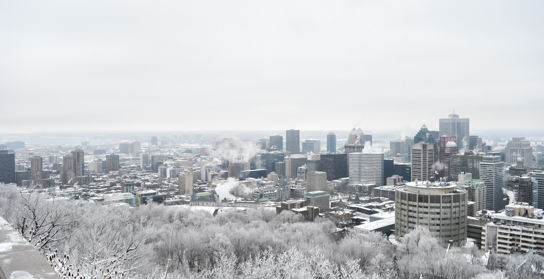 Montreal has a 90% chance of having a white Christmas this year