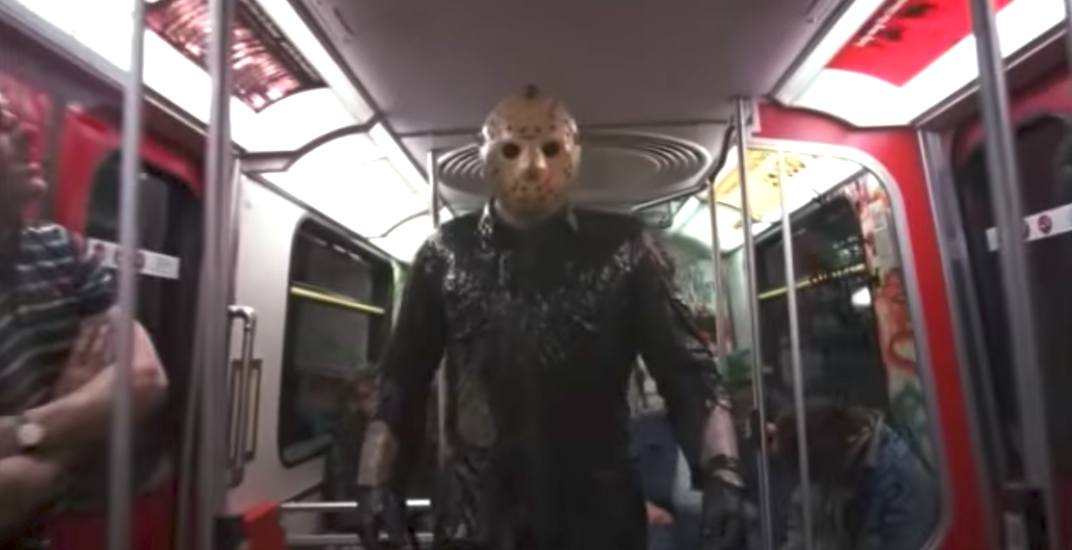 Jason voorhees skytrain friday the 13th vancouver