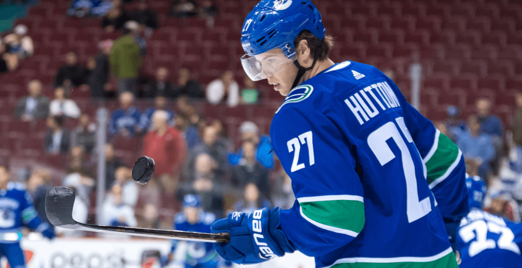 Arbitration fear sends Canucks' Ben Hutton to unrestricted free agency