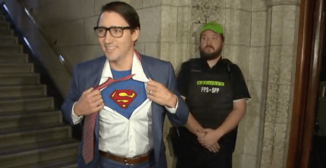 Justin Trudeau shows up to House of Commons in Halloween costume
