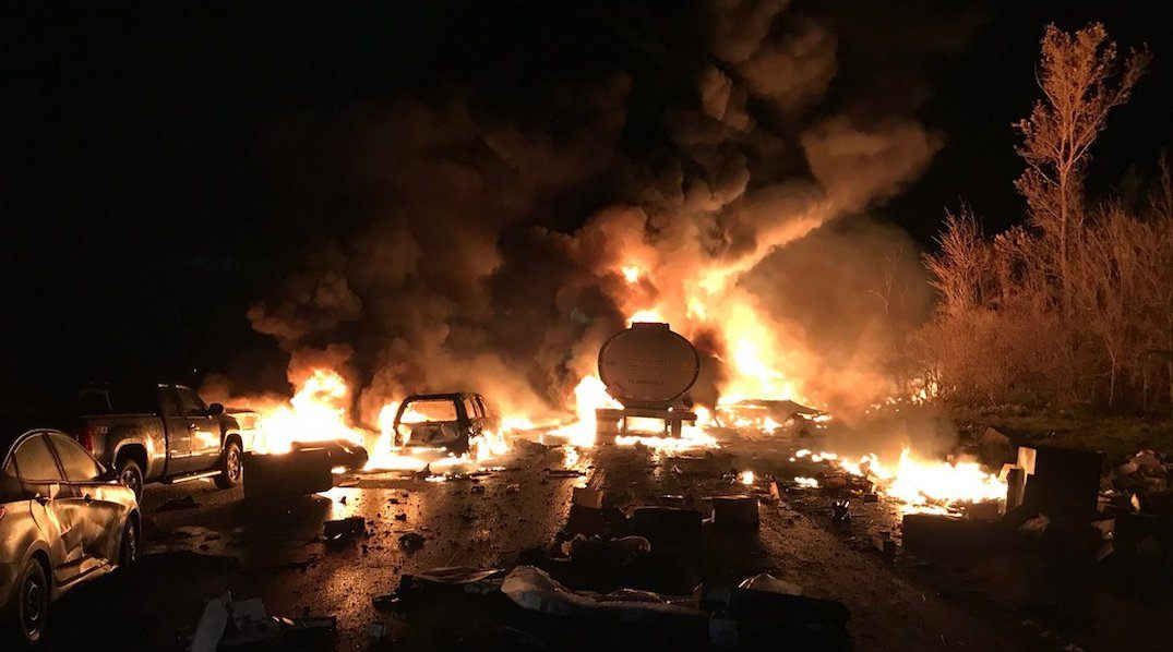 Multiple fatalities reported after fiery 14-vehicle accident on Highway 400: OPP