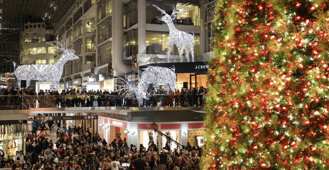 Every major Toronto mall with extended holiday hours this week