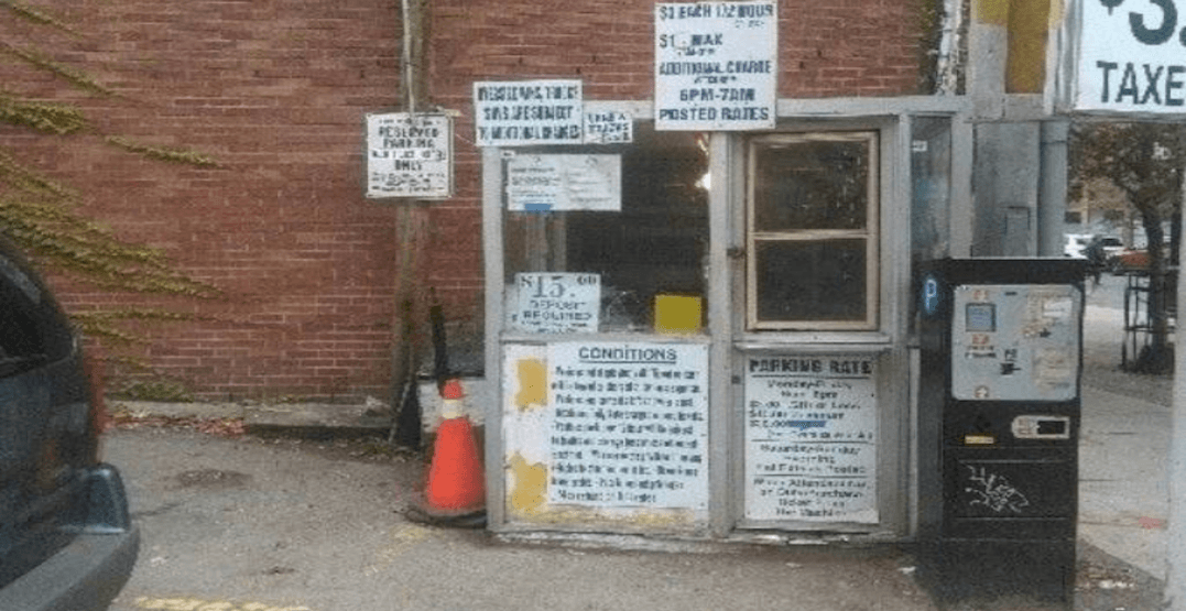 There's an old Toronto parking lot booth for sale on Craigslist