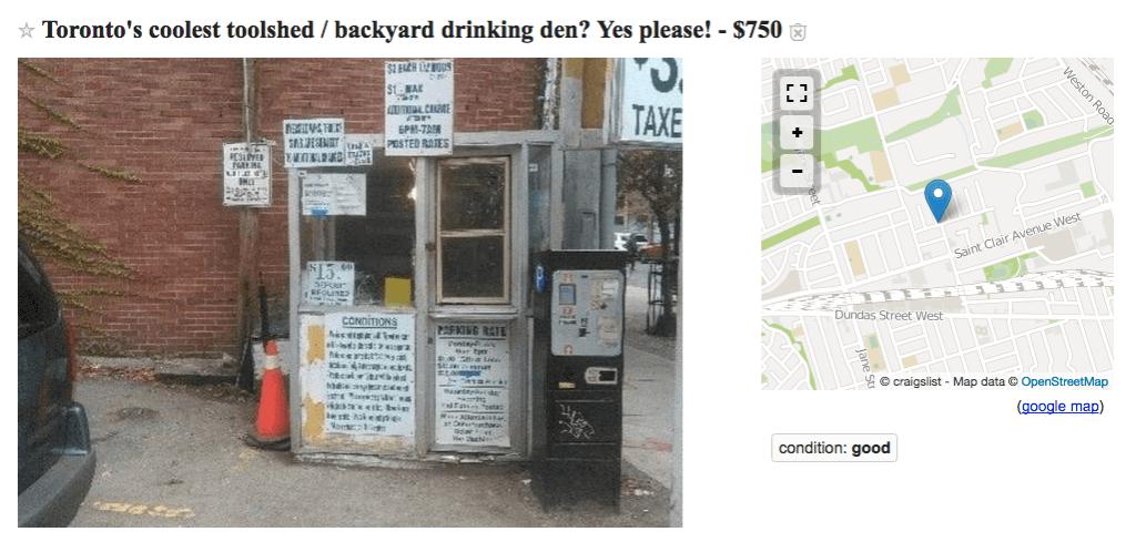 Toronto parking booth