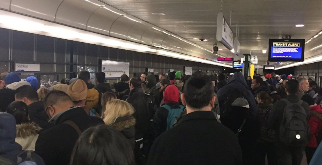 Skytrain delay expo line overcrowding