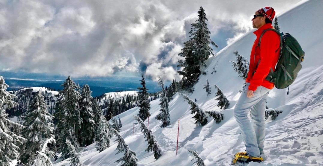 Hiker on Vancouver's North Shore mountains (Marina Poushkina/Shutterstock)