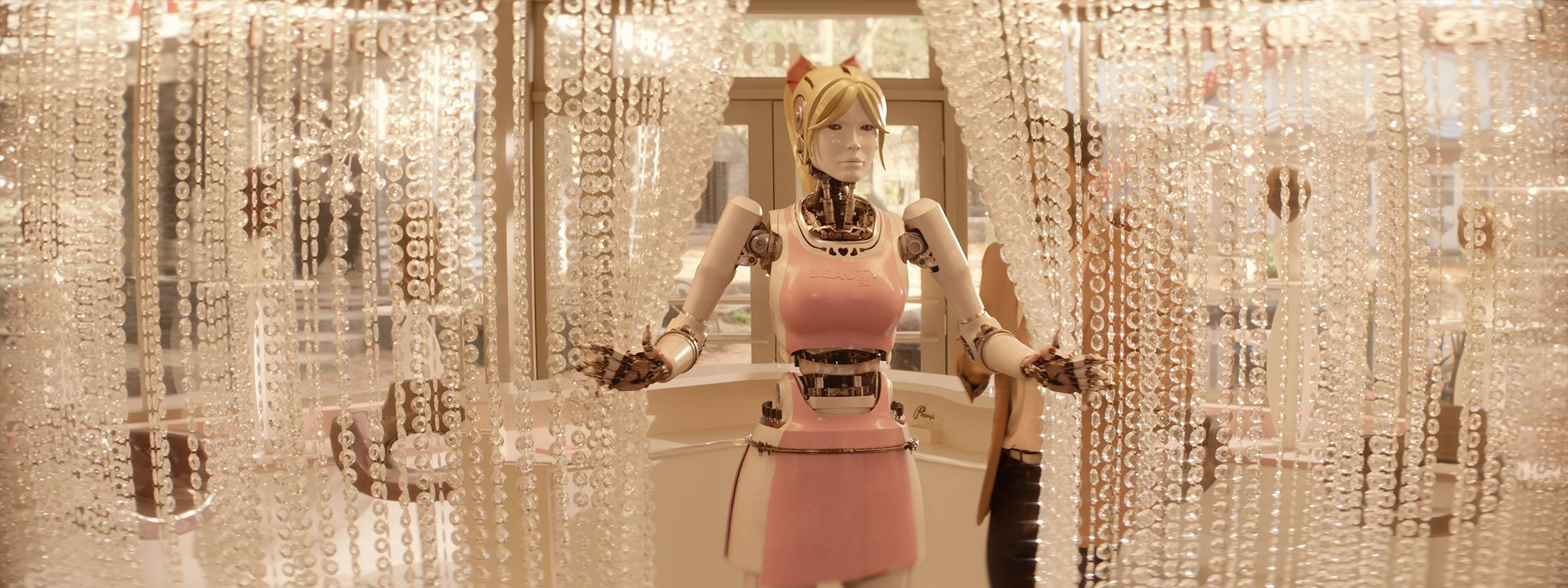 The Beauty Bot in Kingsman The Golden Circle (Sony Pictures Imageworks)