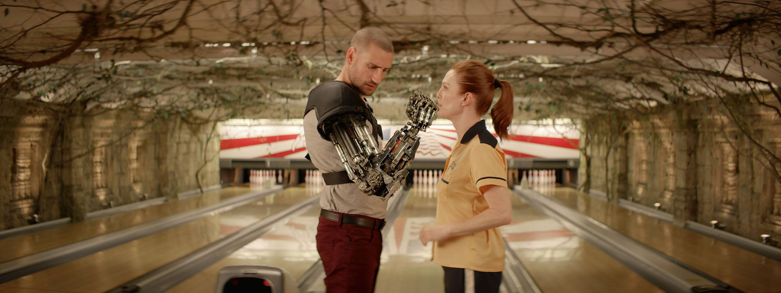 A character with a robot arm in Kingsman: The Golden Circle (Sony Pictures Imageworks)