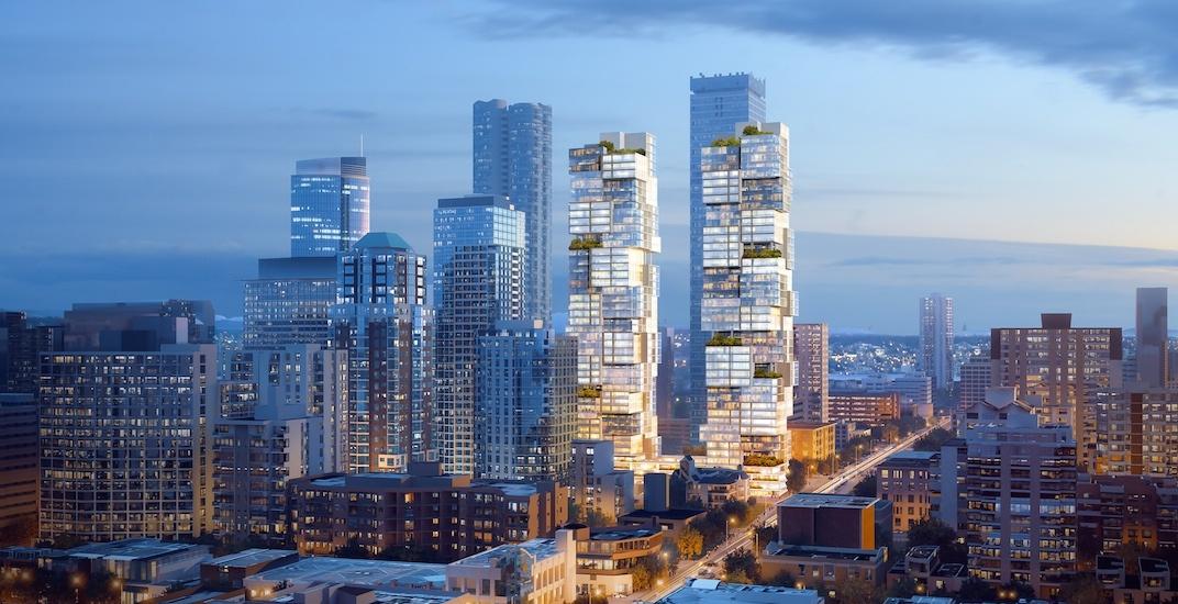 1070 barclay street vancouver bosa properties twin towers buro ole scheeren f2