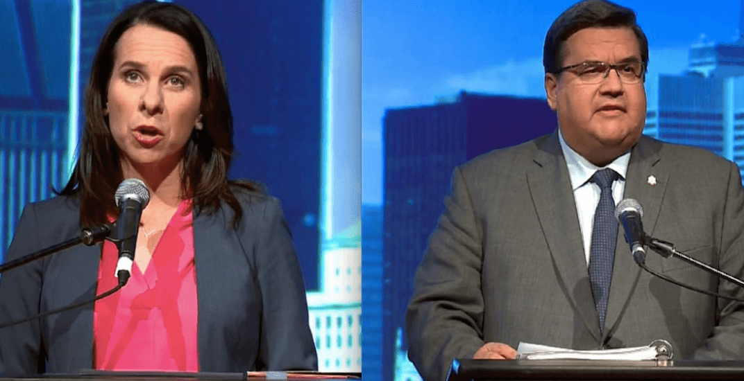 Everything Denis Coderre and Valerie Plante are promising if they become mayor