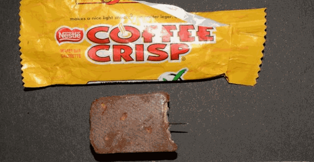 Sewing needle found in Halloween candy in Hamilton