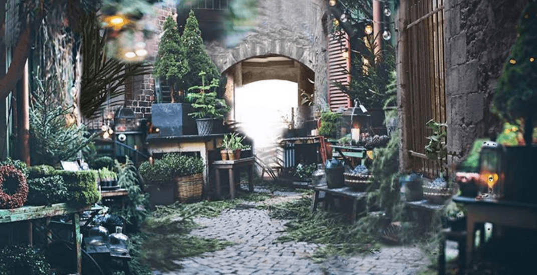 This Montreal alleyway will be transformed into a rustic Christmas market