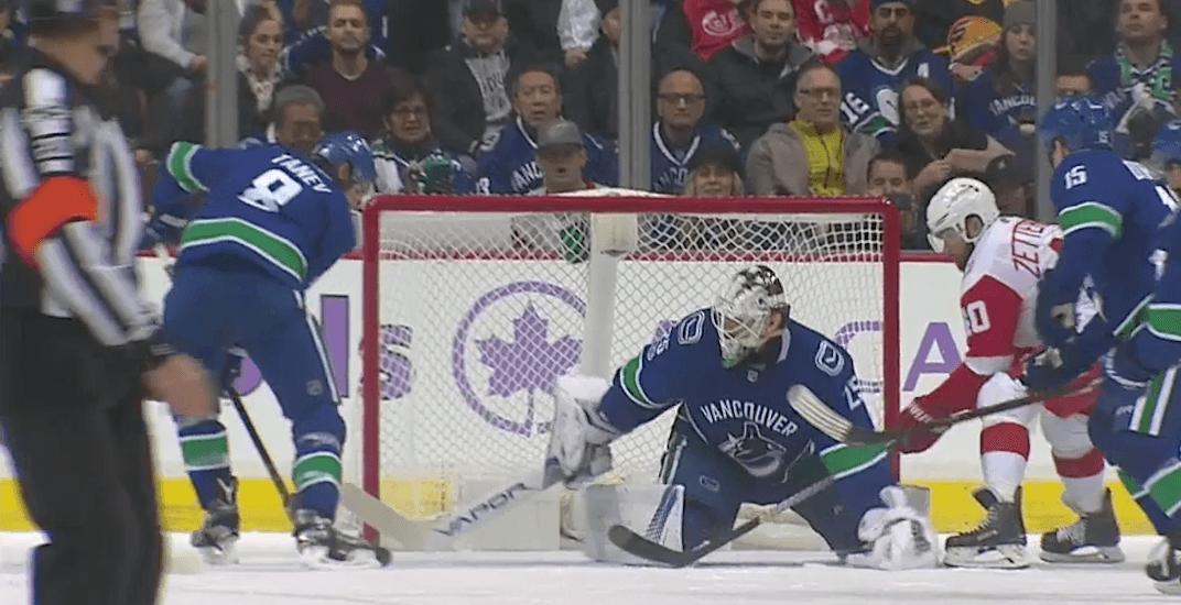 Canucks' Chris Tanev scores goal into his own net (VIDEO)