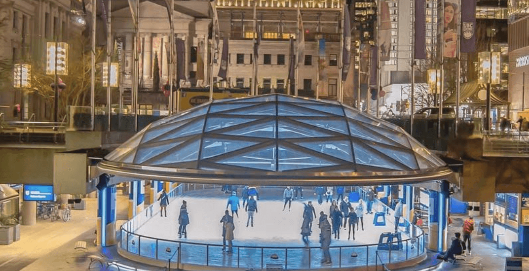 Free skating at Robson Square Ice Rink officially returns this month