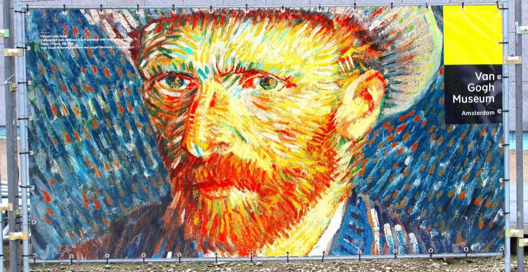 Self portrait of Vincent van Gogh hanging outside the Van Gogh Museum in Amsterdam, the Netherlands (ingehogenbijl/Shutterstock)