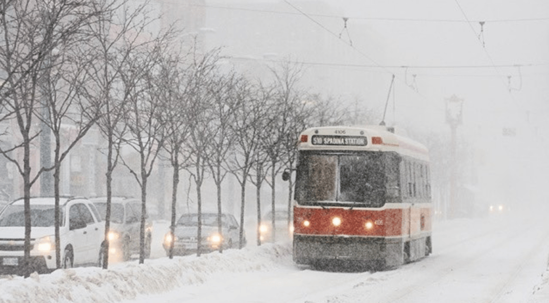 Up to 10 cm of snow expected for Toronto on Monday