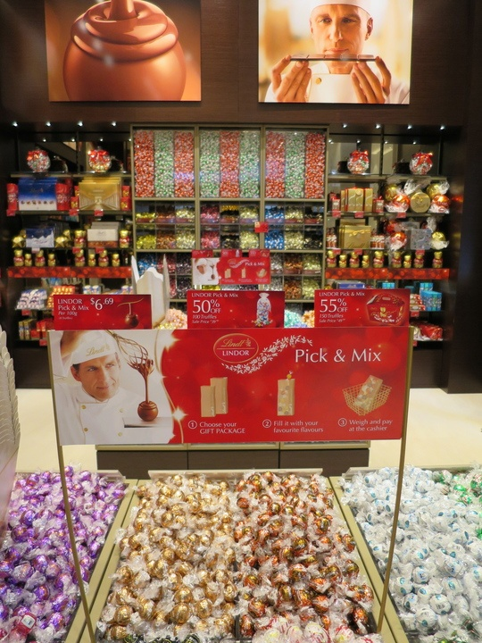 Lindt's downtown Vancouver store and cafe