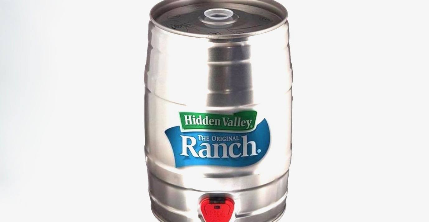 5 litres of ranch dip: Hidden Valley takes things to a new level with mini keg
