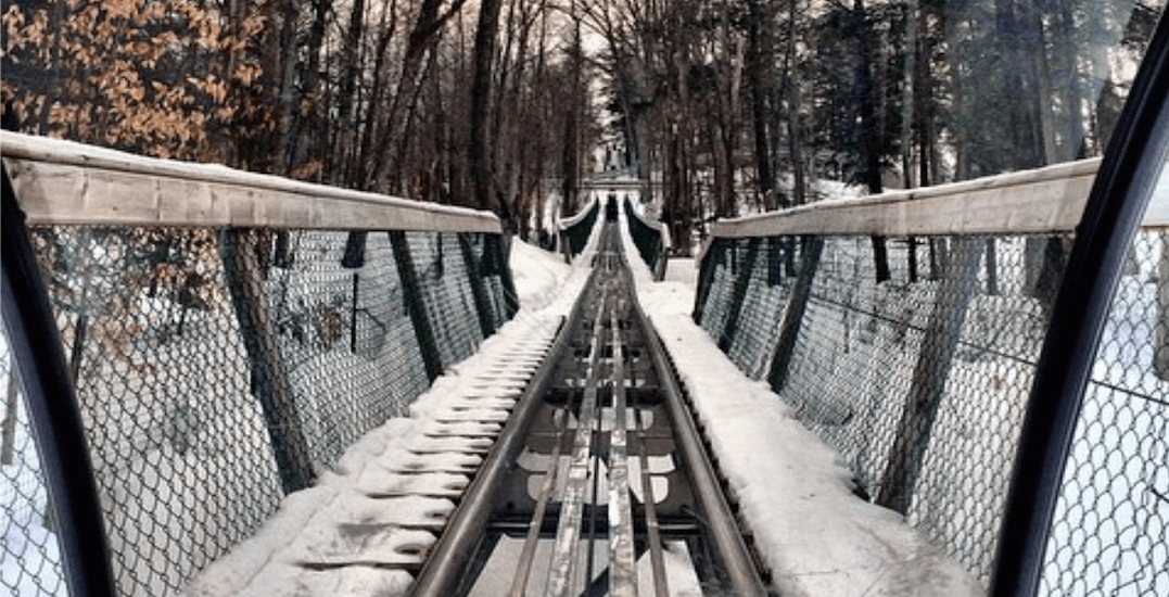 You can ride an outdoor winter roller coaster at Blue Mountain