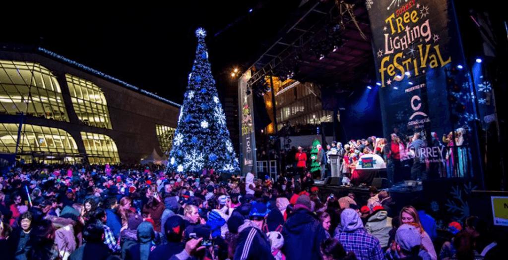 giant tree atSurrey Tree Lighting Festival (Facebook)