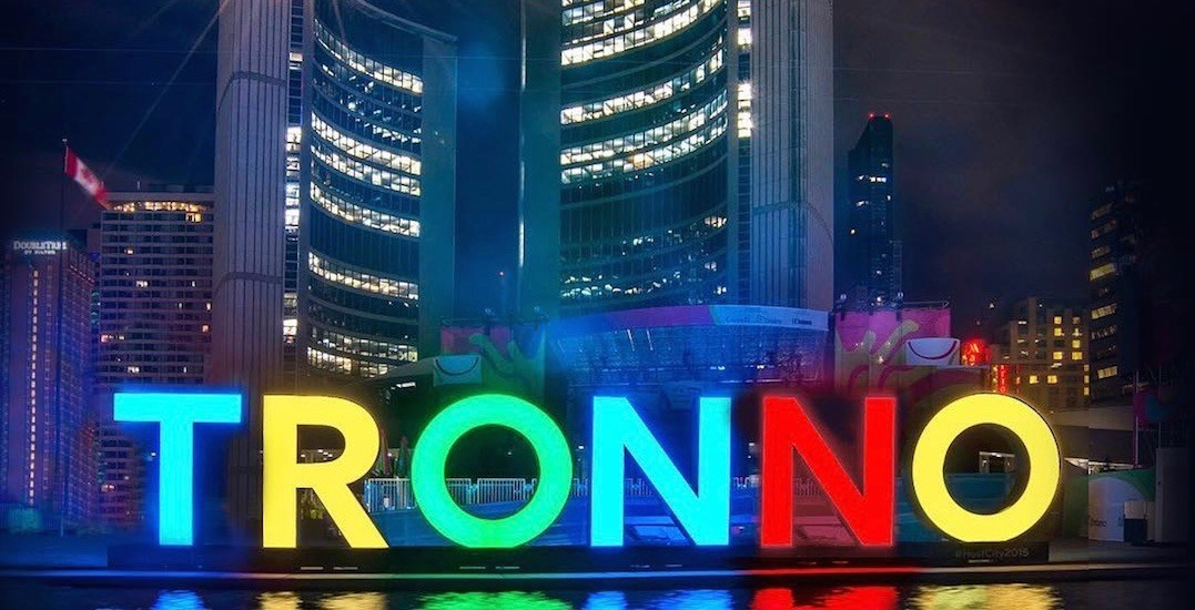 Someone gave the Toronto sign the hilarious upgrade it needed