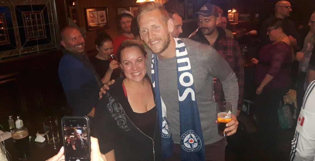 Whitecaps' Ousted hangs with fans at local pub before leaving Vancouver (PHOTOS)