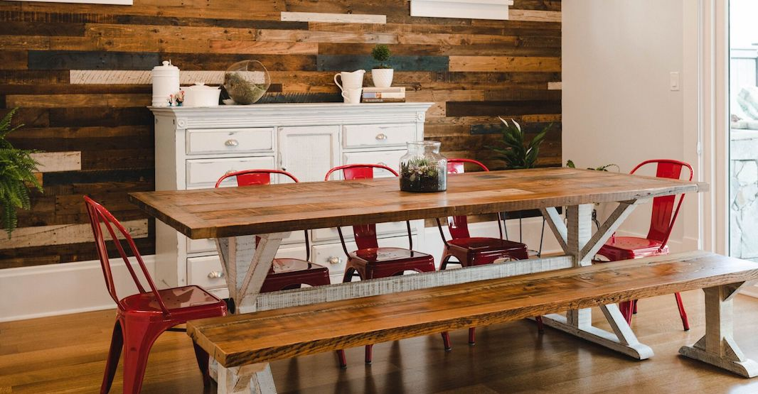 Reclaimed wood furniture is hot right now and here's one place where you can get it