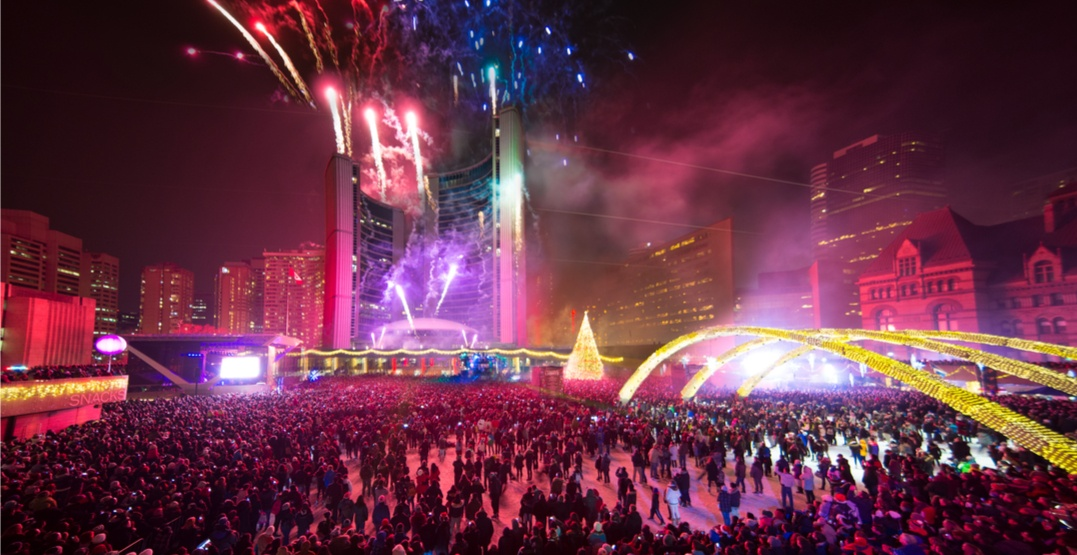 Nathan Phillips Square is hosting a massive New Year's Eve party