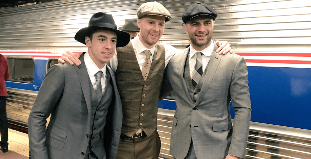 Flames players take train to Washington in 1950s style (PHOTOS)