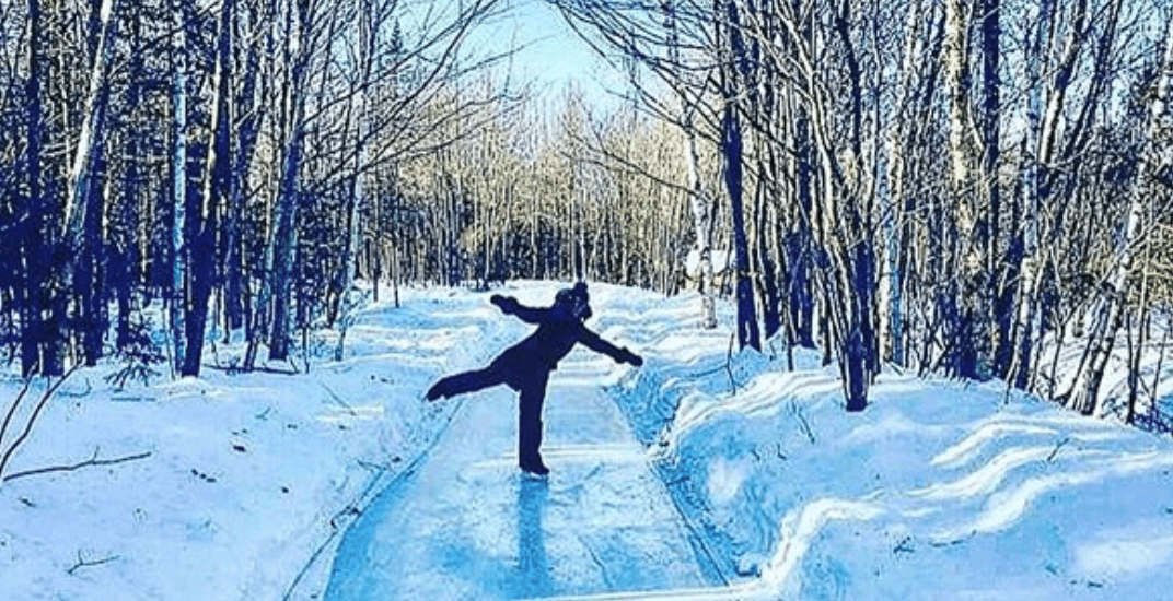 Skate along this enchanting ice trail near Montreal this winter
