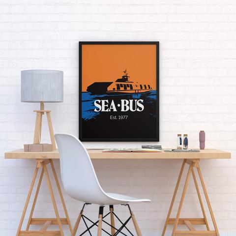 Retro SeaBus poster (TransLink)