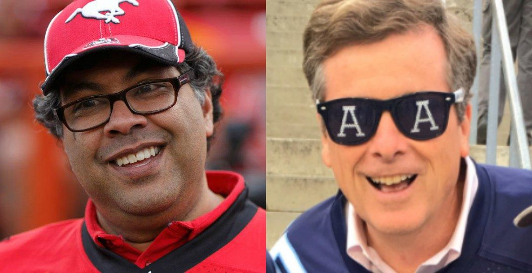 Toronto, Calgary mayors involve poetry in Grey Cup bet